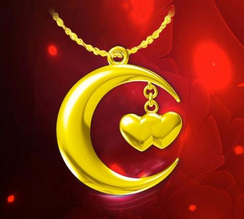 中華黄金:一弯月亮两颗心或许是一生的承诺